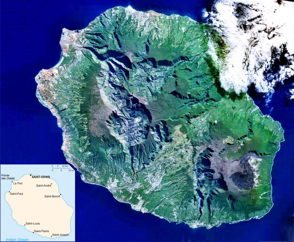 Nasa picture of La Reunion