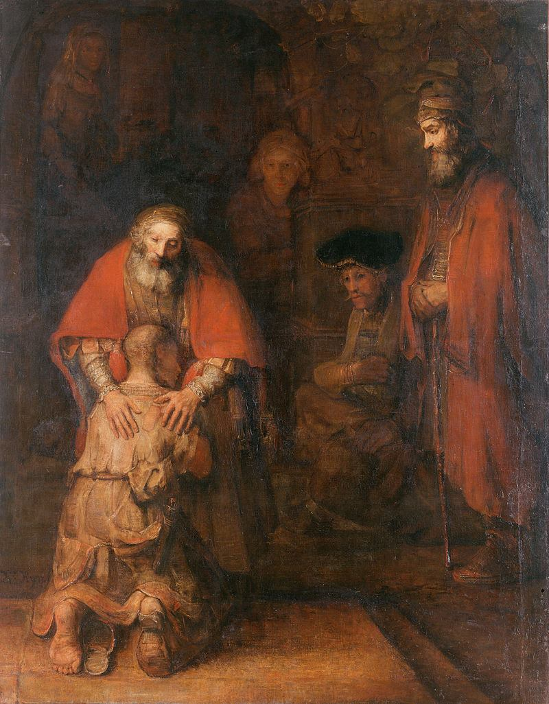 Rebrandt famous picture on the prodigal Son.